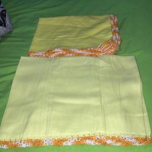 Other - Handmade Yellow bib and blanket set